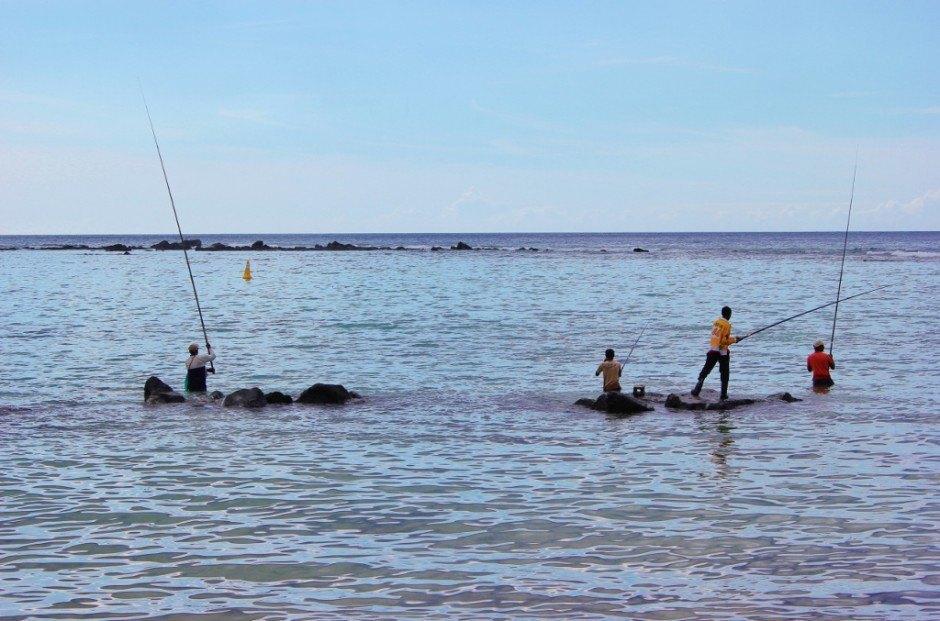 Flic en Flac, Mauritius fishermen