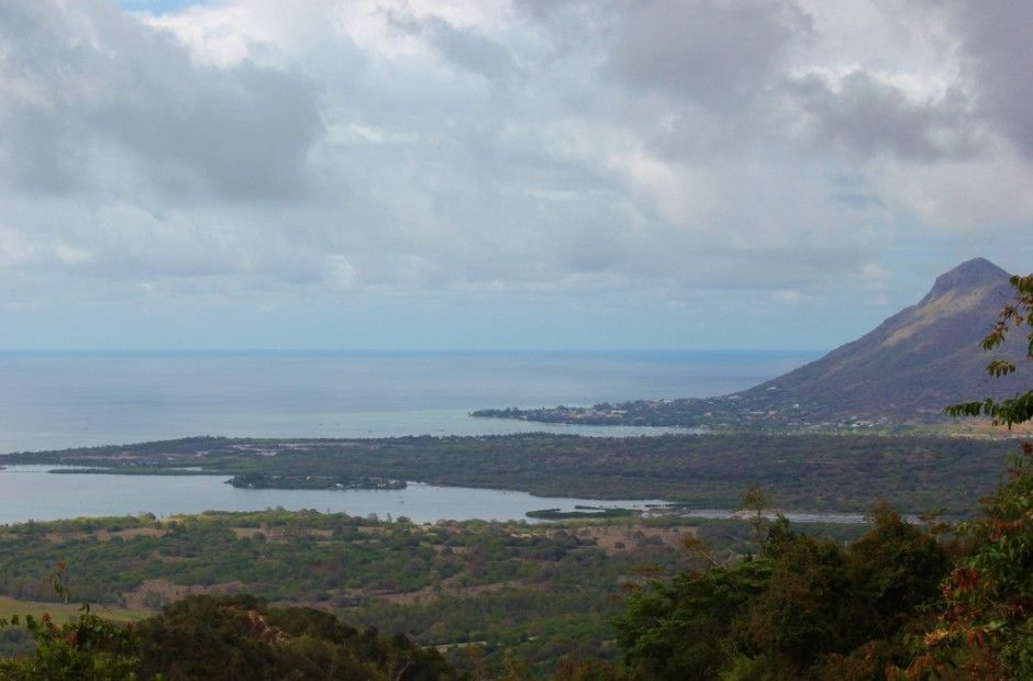 The western coastline of Mauritius