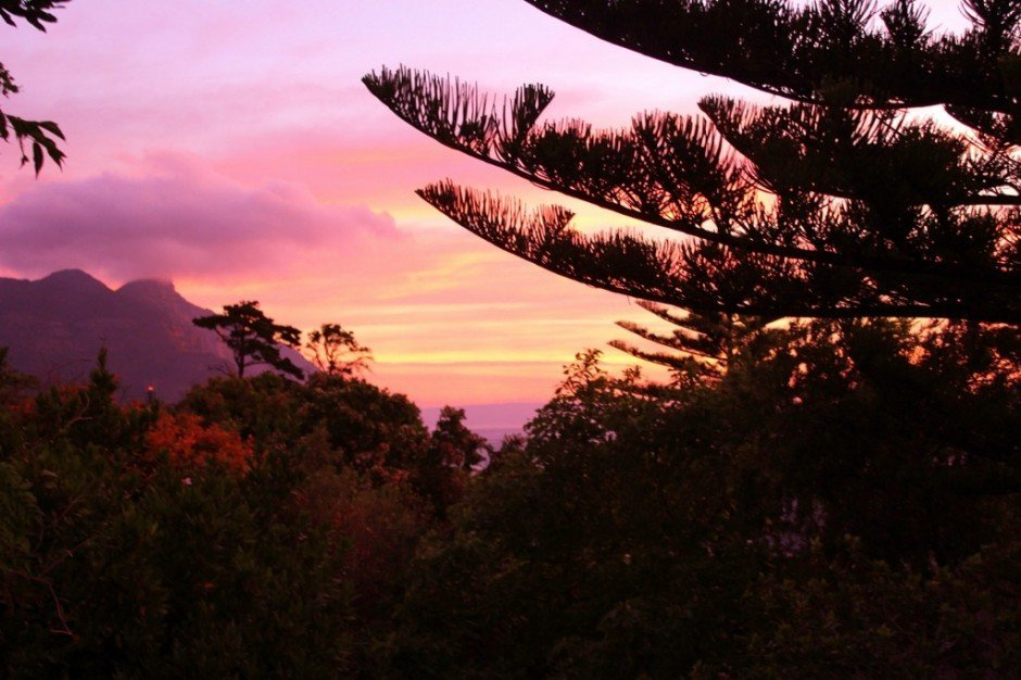 A beautiful sunset from our balcony in Hout Bay, Cape Town