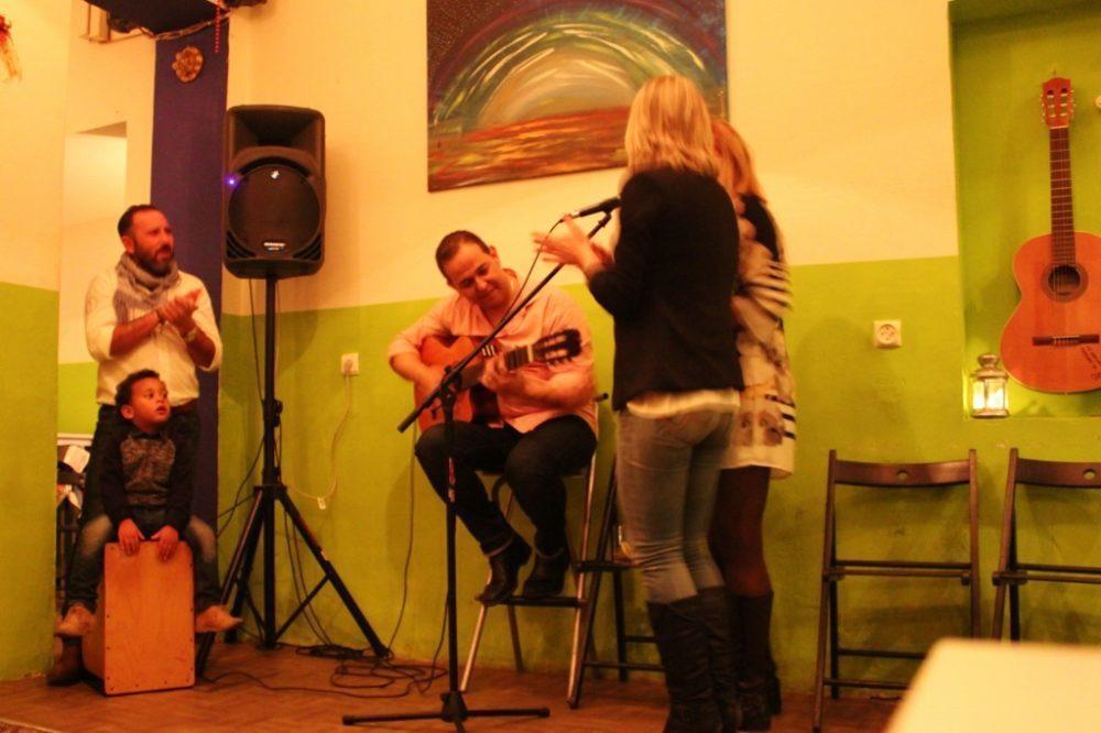 Live Flamenco music at Farinas bar in Seville, Spain