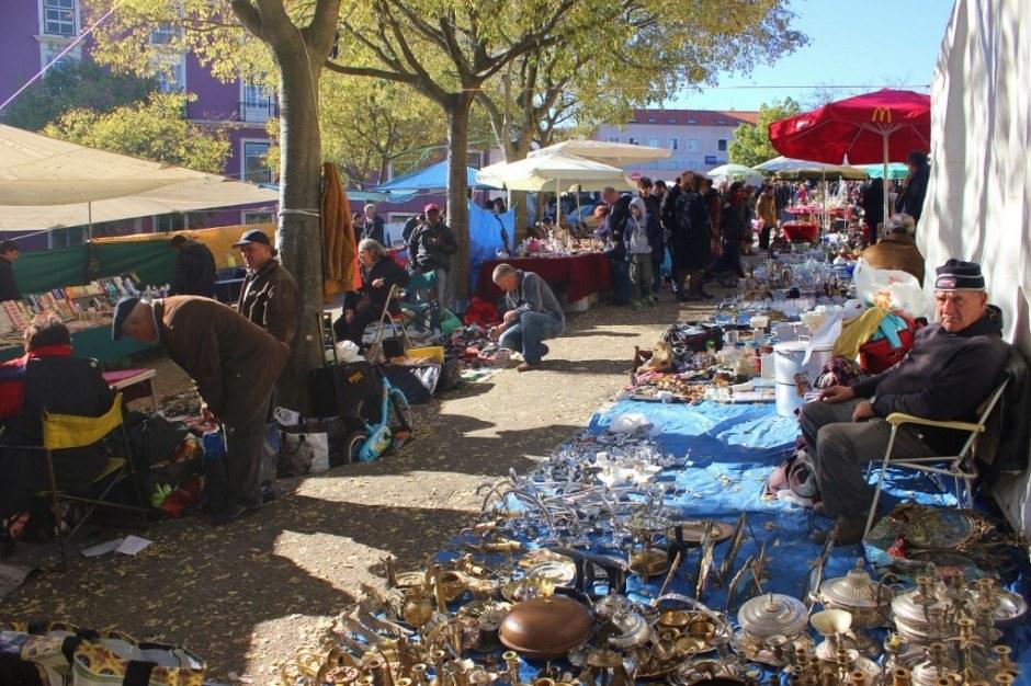 Feira da Ladra, Thieves Market, Alfama, Lisbon, Portugal