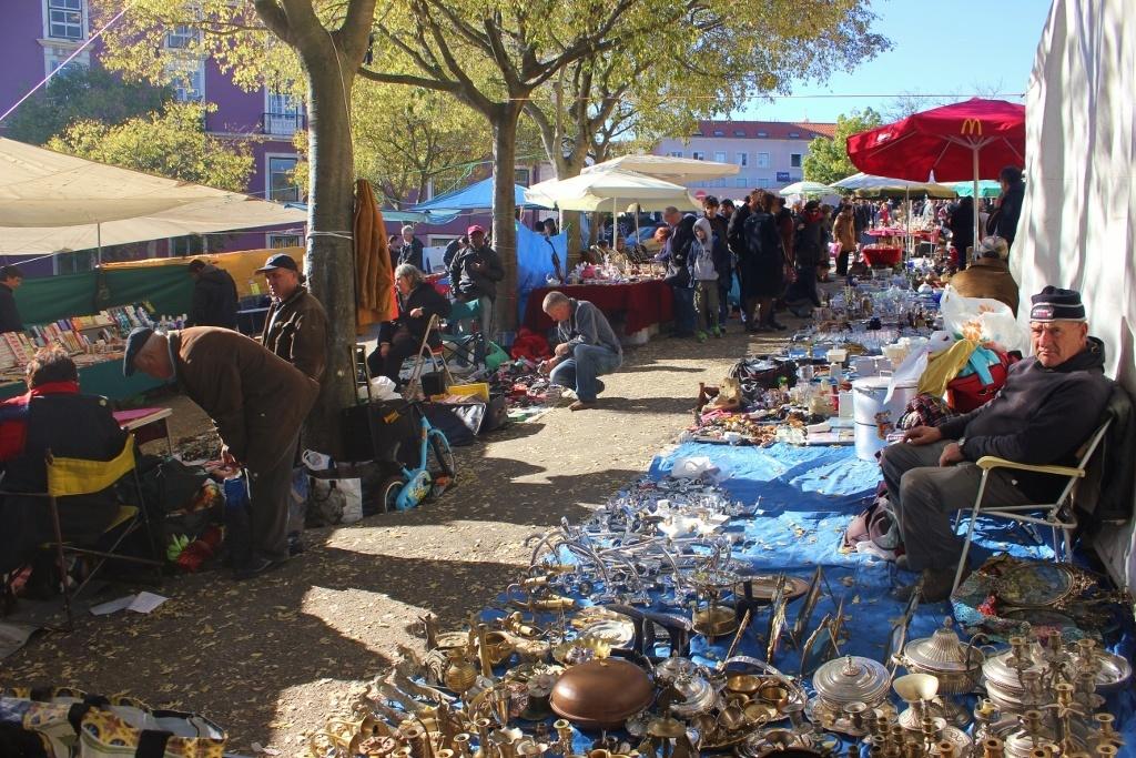 Feira da Ladra Thieves Market Lisbon Portugal