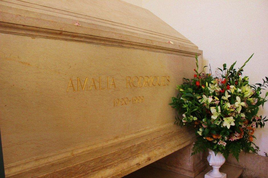 Lisbon's National Pantheon: Tomb of Amalia Rodrigues, the famous Fado singer