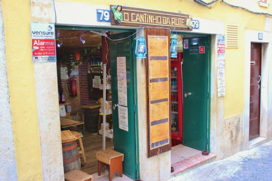 Hidden cafes are fun to find on the streets of Alfama.