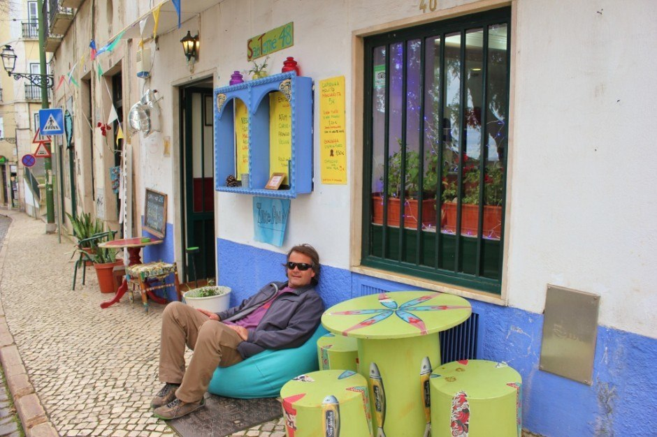 We found several chic cafes on the streets of Alfama.