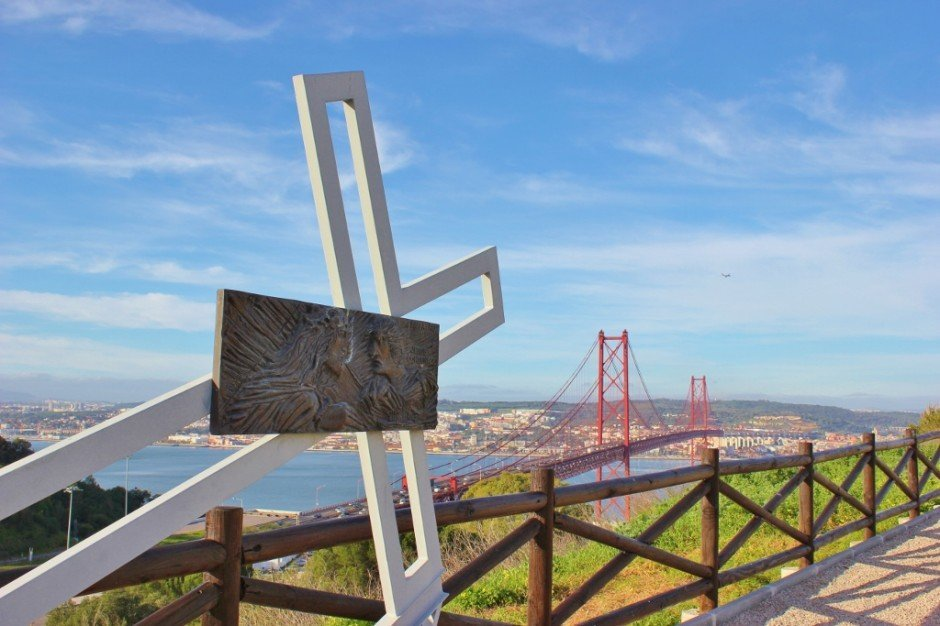 Lisbon's Cristo Rei: The Stations of the Cross are along the scenic walkway