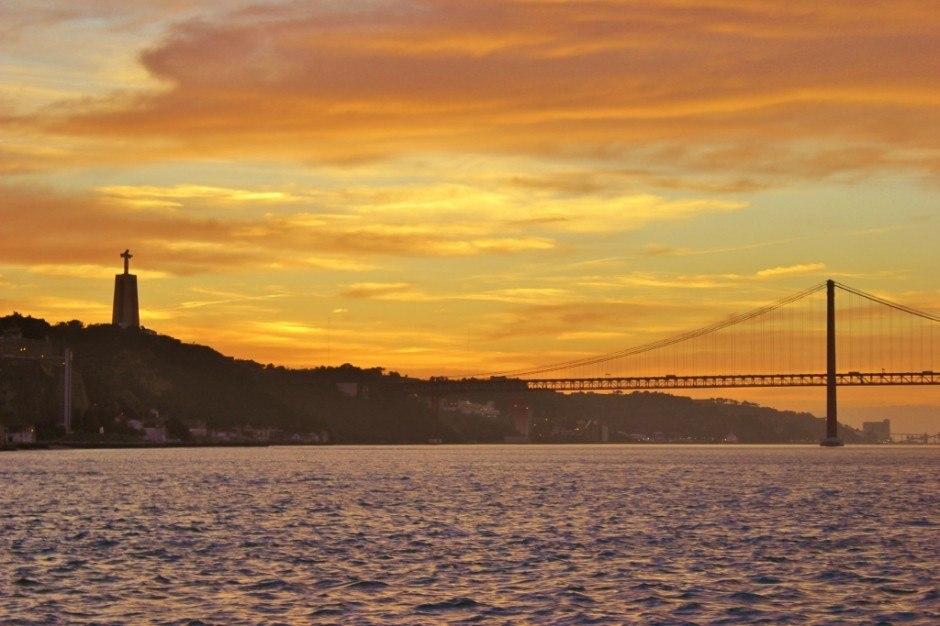 Lisbon's Cristo Rei at sunset