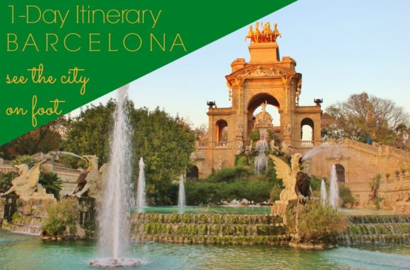 One-Day Itinerary Barcelona See The CIty on Foot JetSettingFools.com