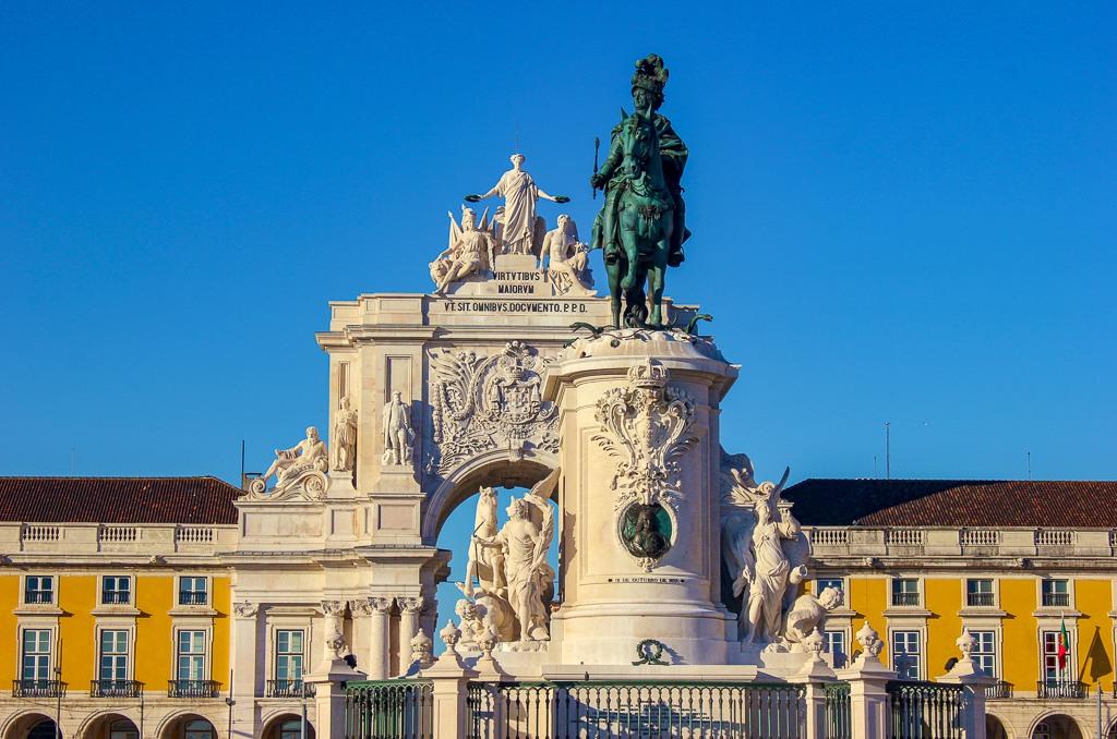 Arco da Rua Augusta, Praca do Comercio, Lisbon Portugal.