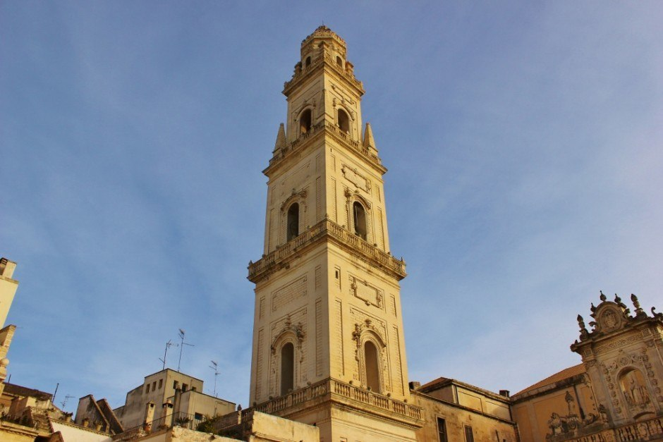Piazza del Duomo in Lecce, Italy: Campanile - The bell tower soars over the square