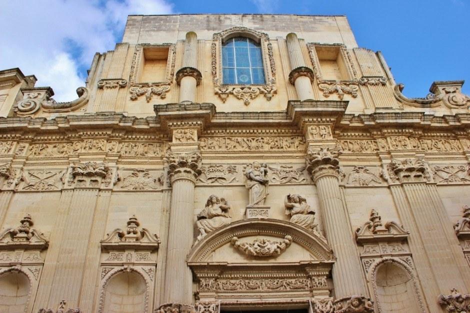Facade of Chiesa di Santa Maria di Constantinopoli in Lecce, Italy