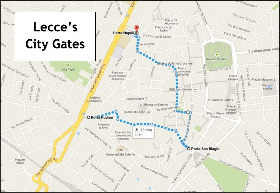 Lecce Italy city gates Jetsetting Fools