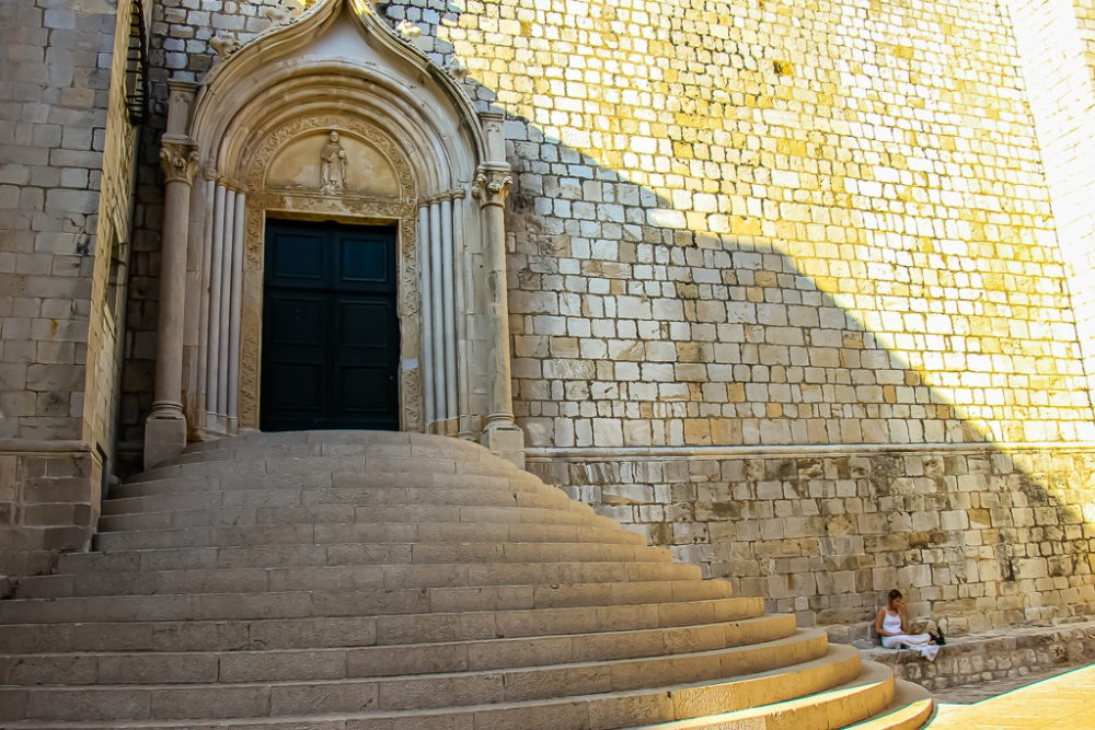 Stairs to Dominican Church in Dubrovnik, Croatia