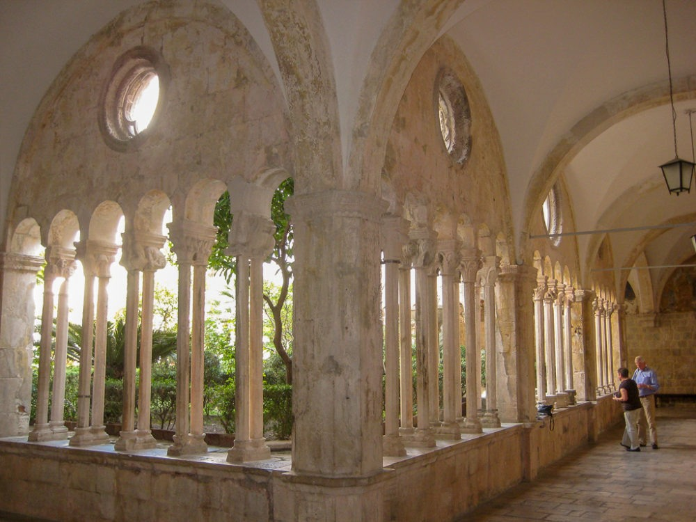 Columns at Franciscan Monastery in Dubrovnik, Croatia