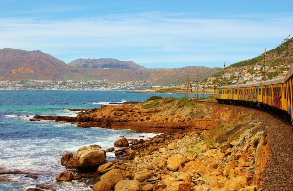 The train from Cape Town to Simon's Town along the coast only cost $2.25 round trip, helping us to stay on budget after 9 months of travel