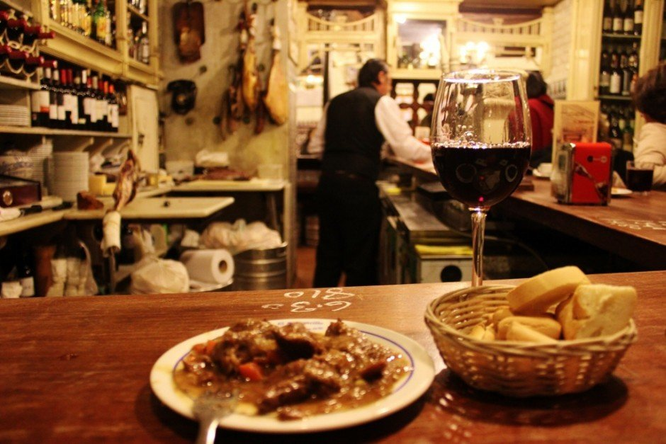 We splurged on tapas and wine in Spain, but were still on budget after 9 months of travel due to other cost saving mesuares