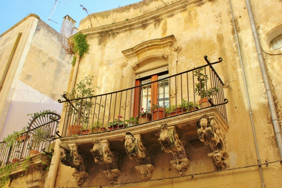 After our month-long stay in Lecce, I decided this was my favorite balcony.