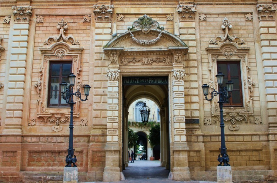 Beautiful architecture was everywhere in Lecce, Italy.
