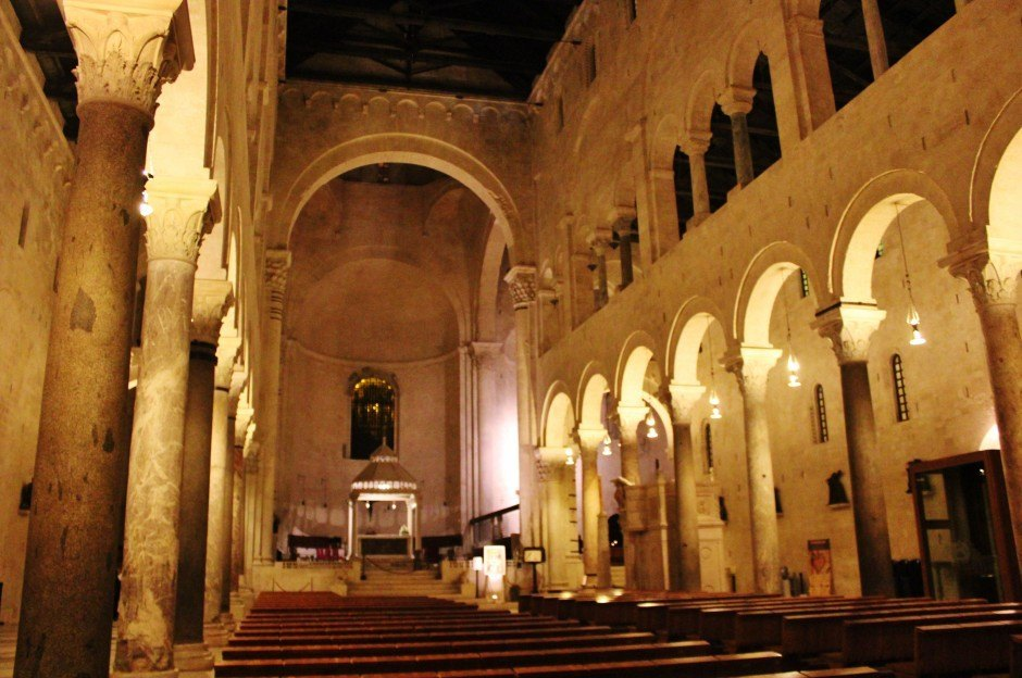 The cathedral in Bari, Italy