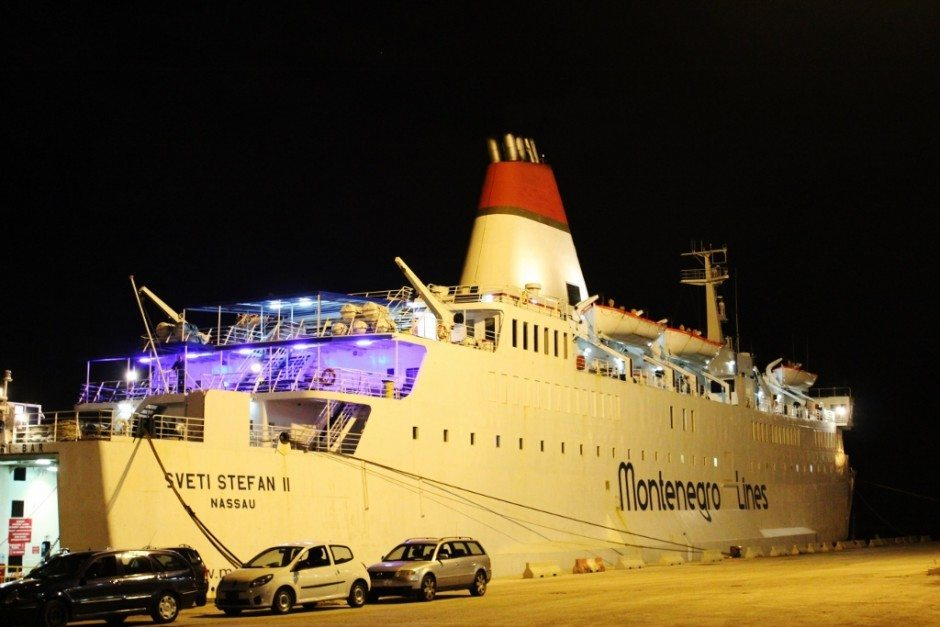 The Sveti Stefan preparing for crossing the Adriatic Sea from Bari, Italy to Bar, Montenegro