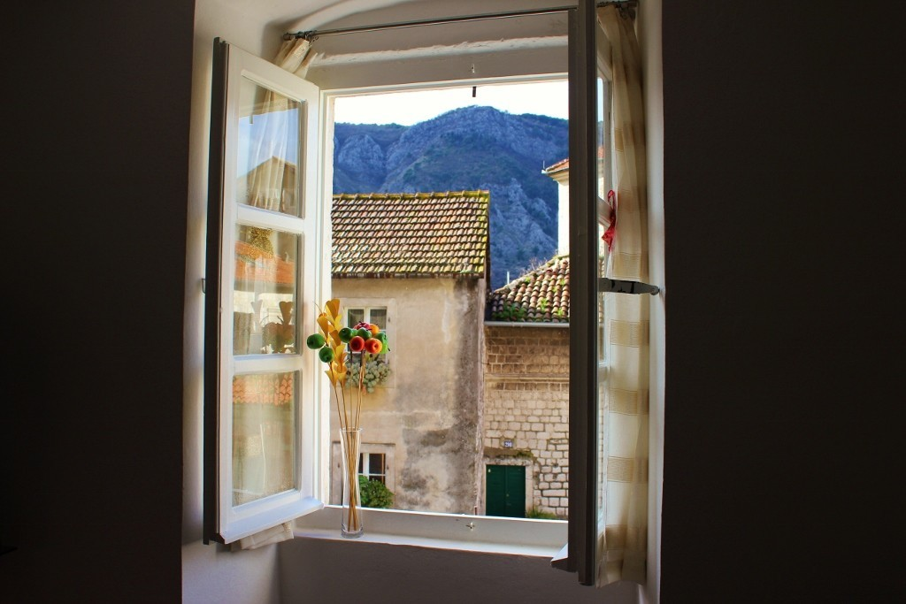 Our Airbnb in Kotor, Montenegro: View from our window