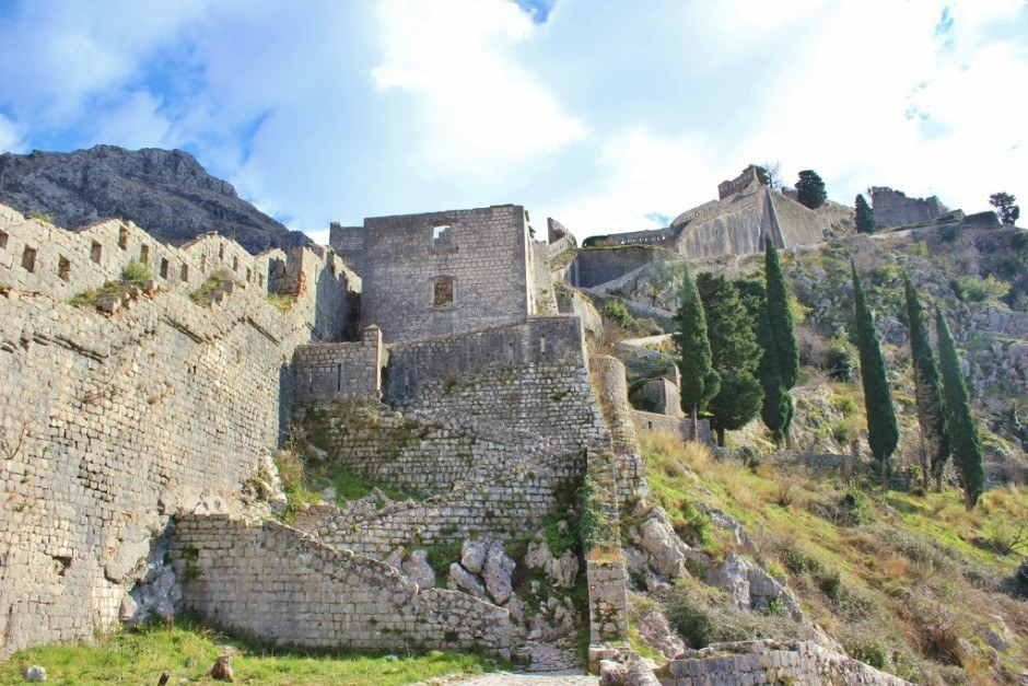 Hiking in Kotor: A fort is open for exploration on the way to the top