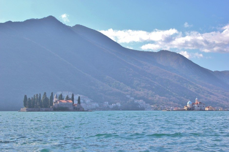 Perast: Two Islands off shore