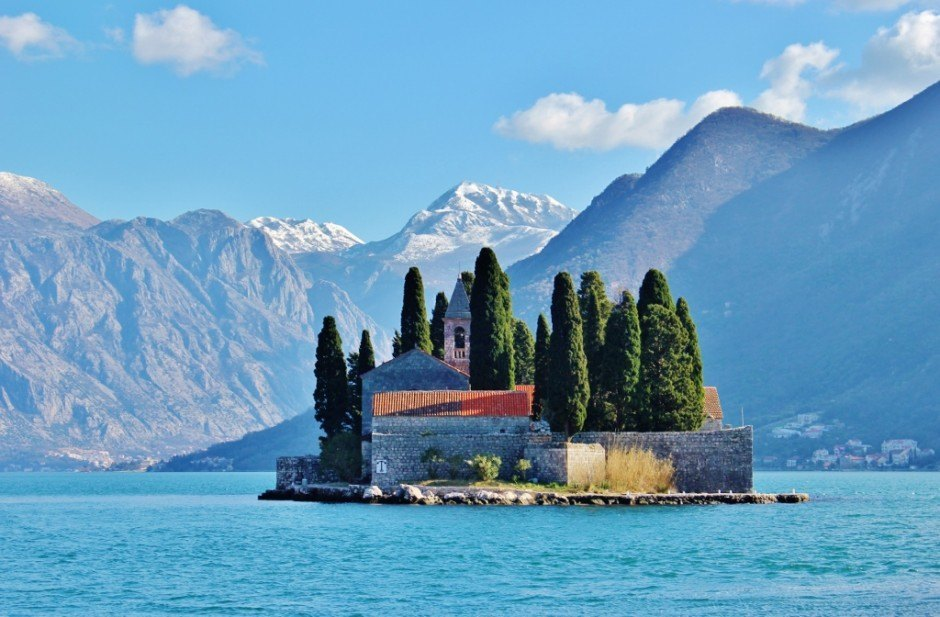 Perast: The natural isalnd and St George Benedictine Monastery