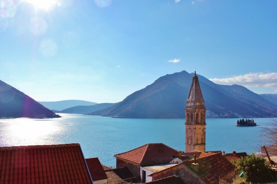 Perast: Looking out over the bay