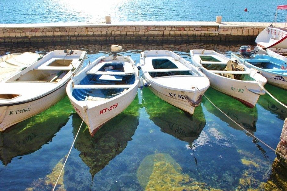 Perast: Fishing boats
