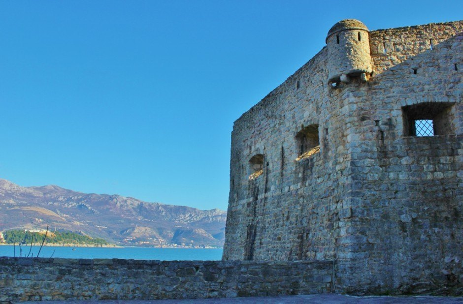 Budva, Montenegro Citadel and view of sea