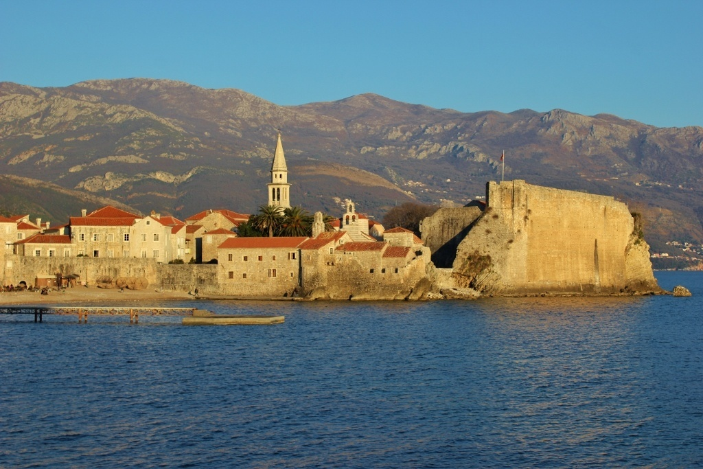 Budva at sunset