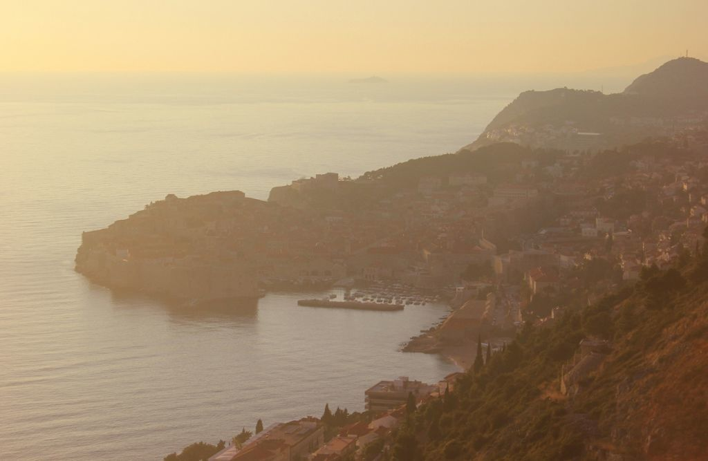 Visit Dubrovnik: The view as our bus came around the curve
