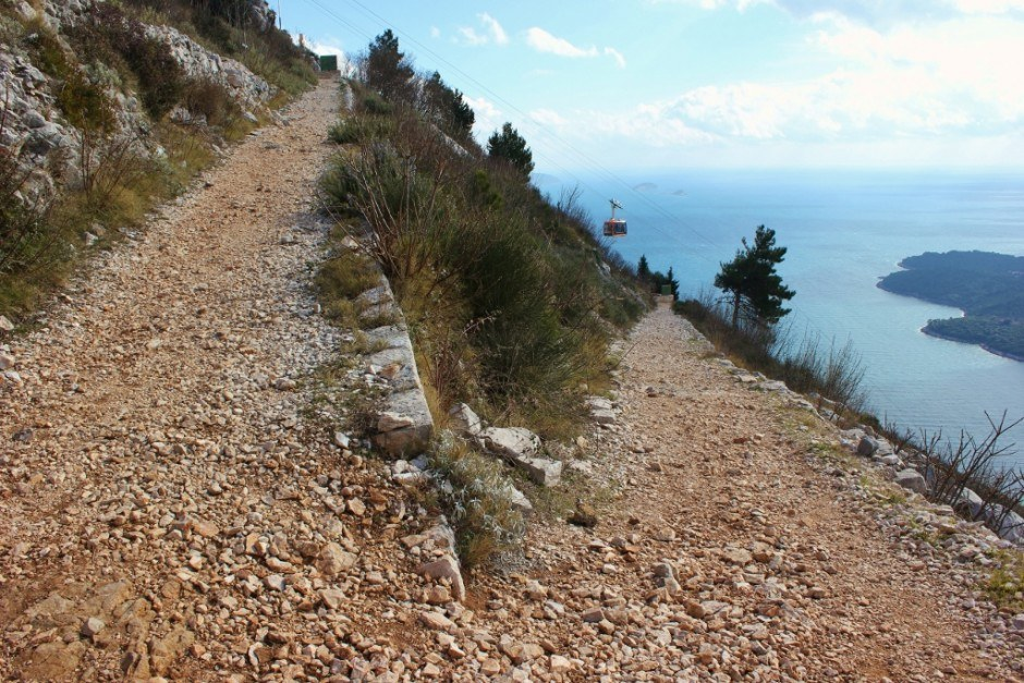 Hiking Mount Srd on the lengthy switchbacks
