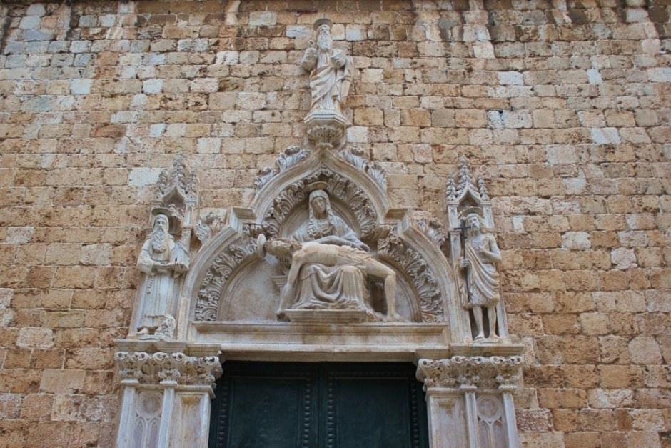 Dubrovnik sights: Franciscan Church outside