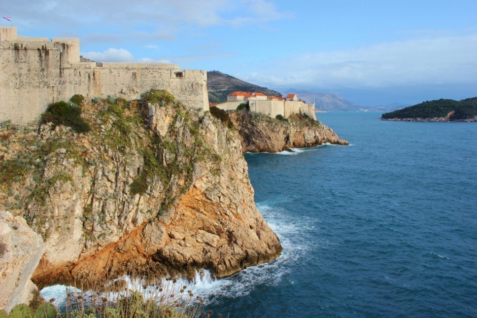 Dubrovnik nature walk: a view of Fort Lawrence and the old walled city