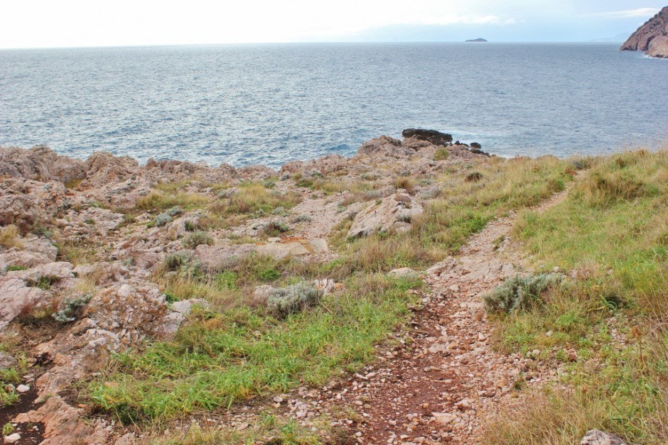 A worn path along our Dubrovnik nature walk