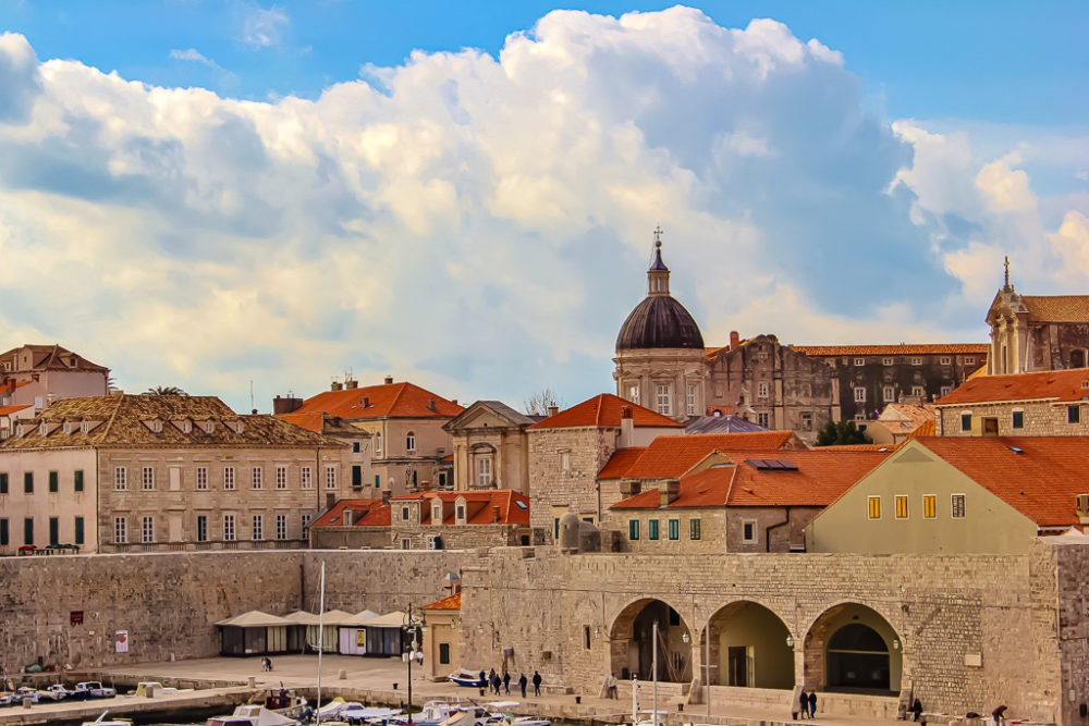 View of the Old City from Ploce Gate in Dubrovnik, Croatia