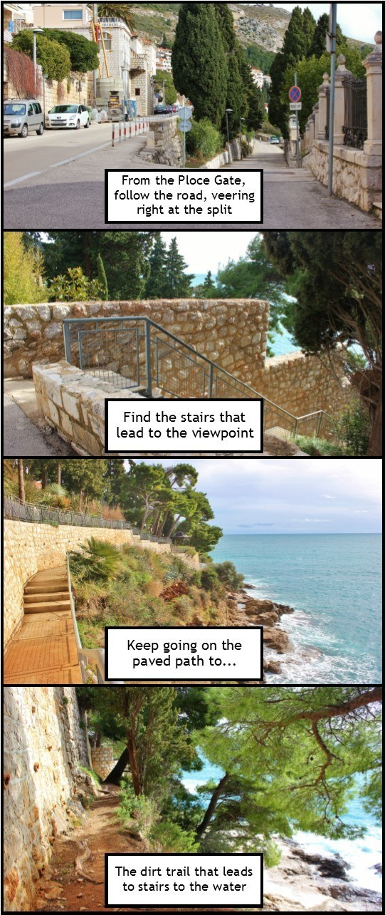 Dubrovnik viewpoint: use the picture directions