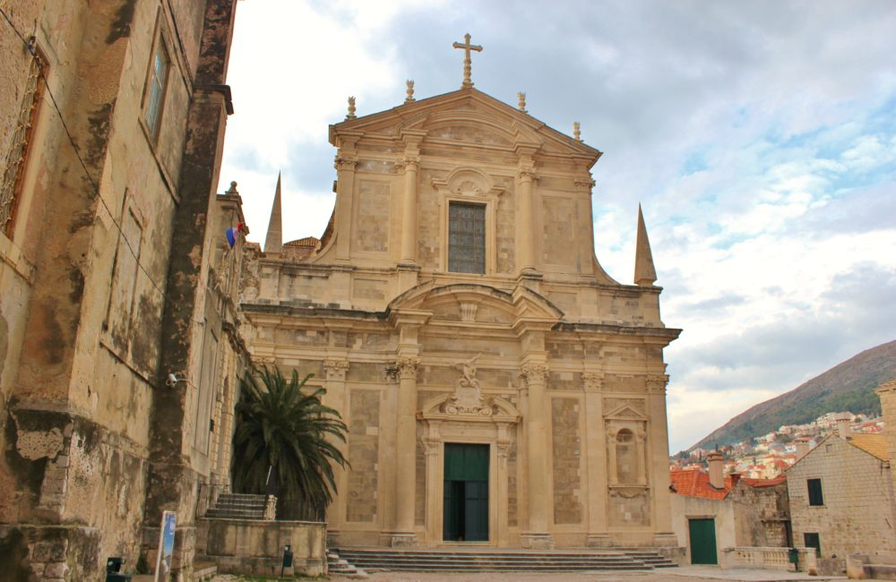 Baroque St. Ignatius Church in Dubrovnik, Croatia