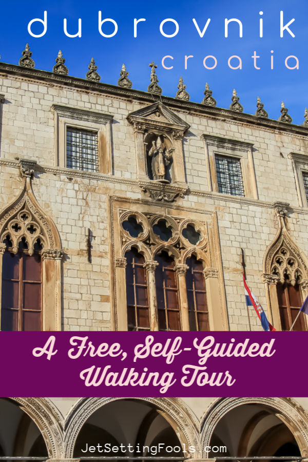 A free self-guided walking tour of Dubrovnik, Croatia by JetSettingFools.com
