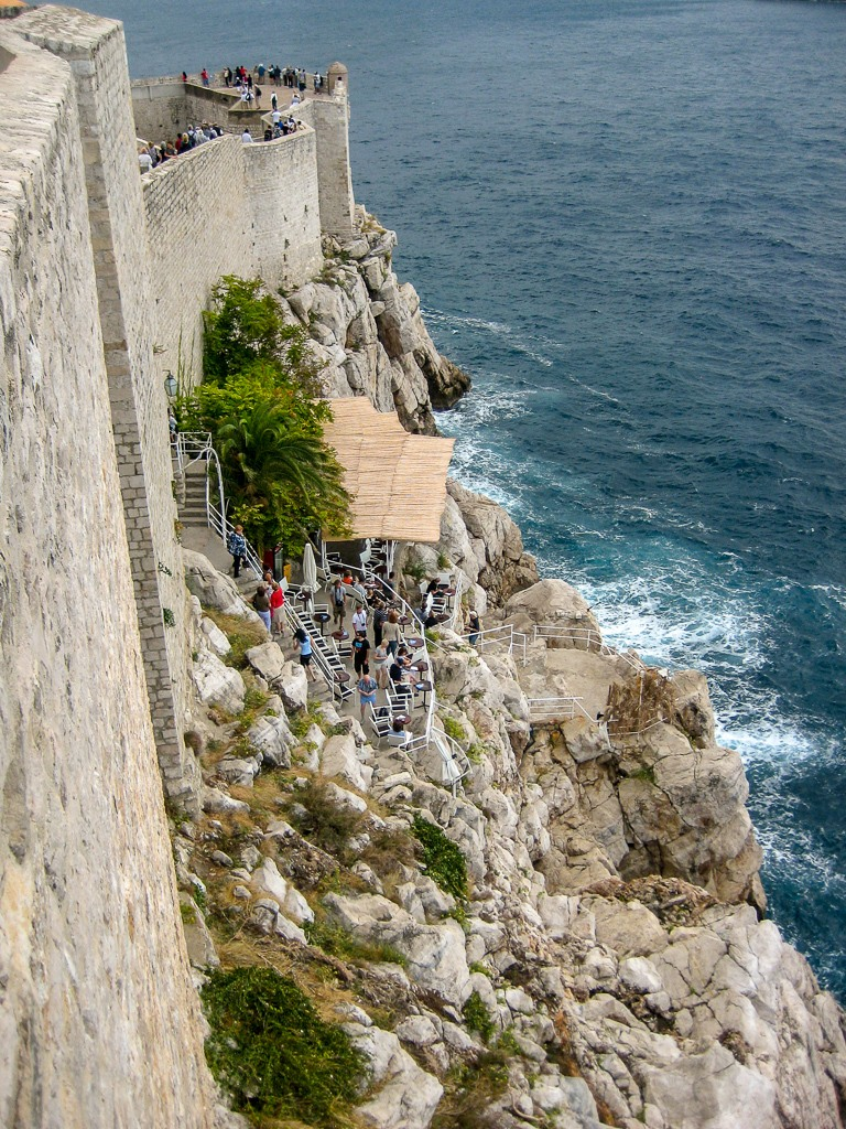 Looking down to the Buza Bar in Dubrovnik, Croatia