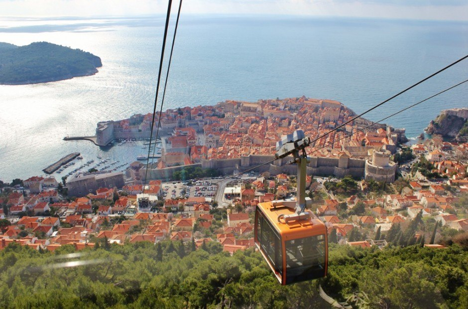 Dubrovnik on a budget: Take the cable car up Mount Srd and hike down