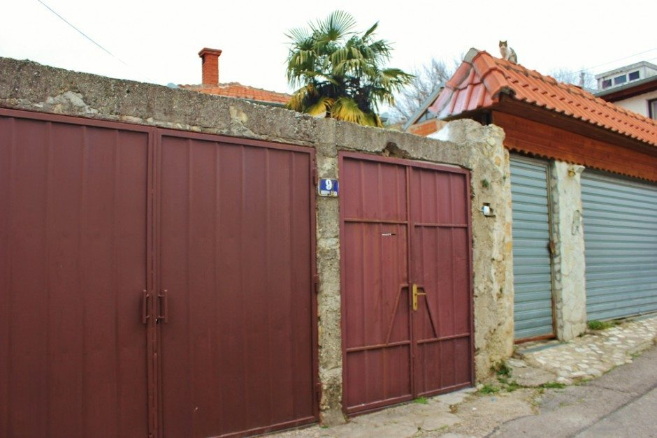 Our week in Mostar: The gated entrance into our private courtyard and home
