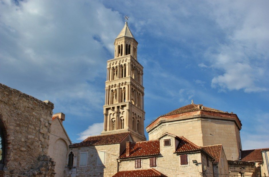 Diocletian's Palace: The bell tower rises above the historic center