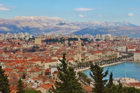 Sights to see in Split Croatia City View from Marjan Hill