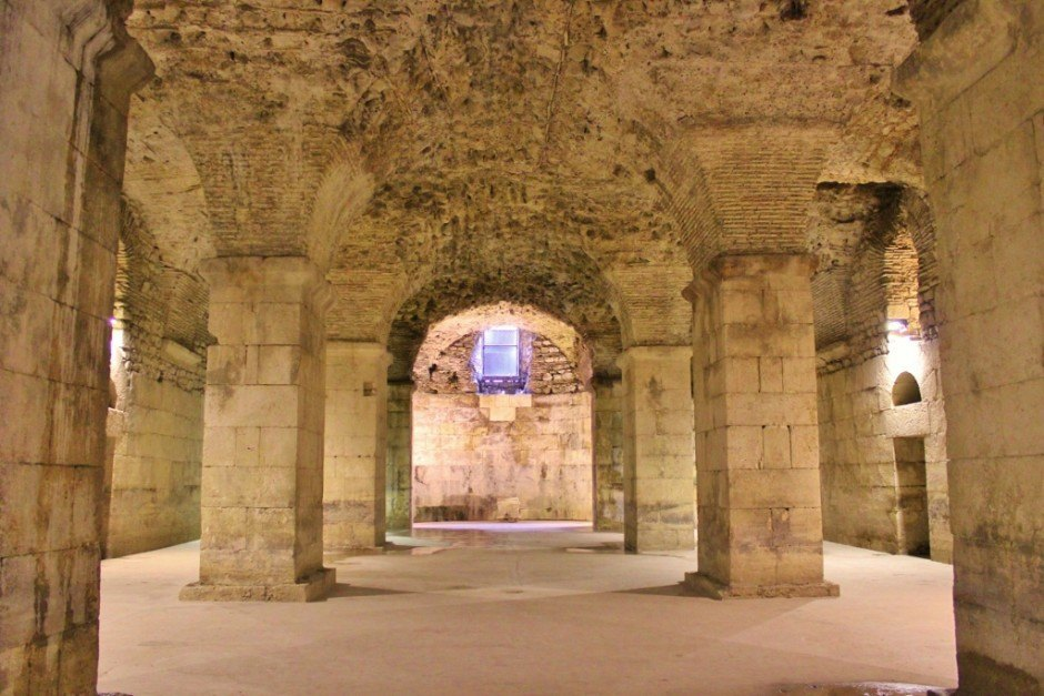 Diocletian's Palace sights: the palace basement