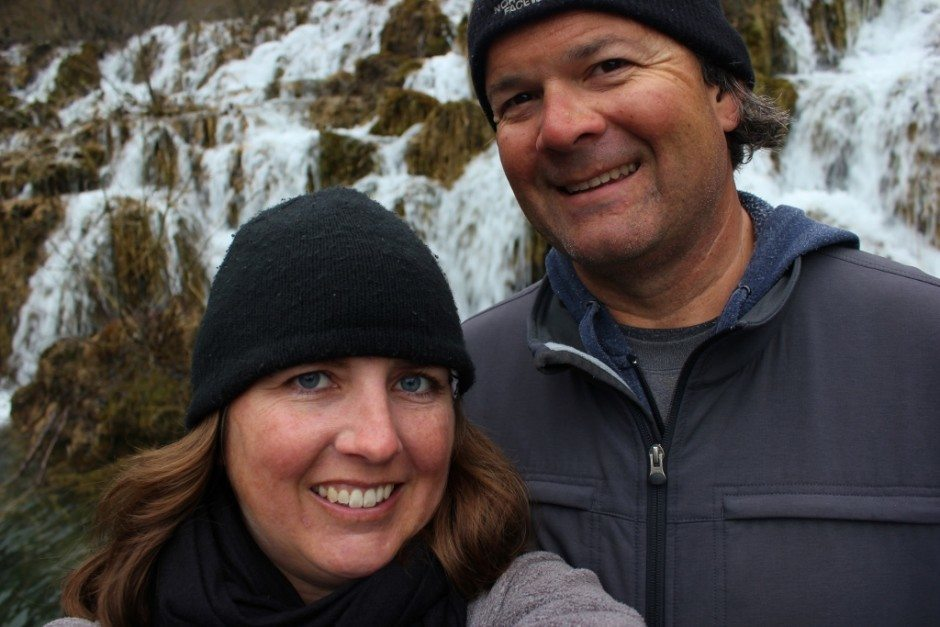 Visiting Plitvice Lakes: Our winter visit often made us feel as if we were the sole visitors...with plenty of opportunities to snap selfies!