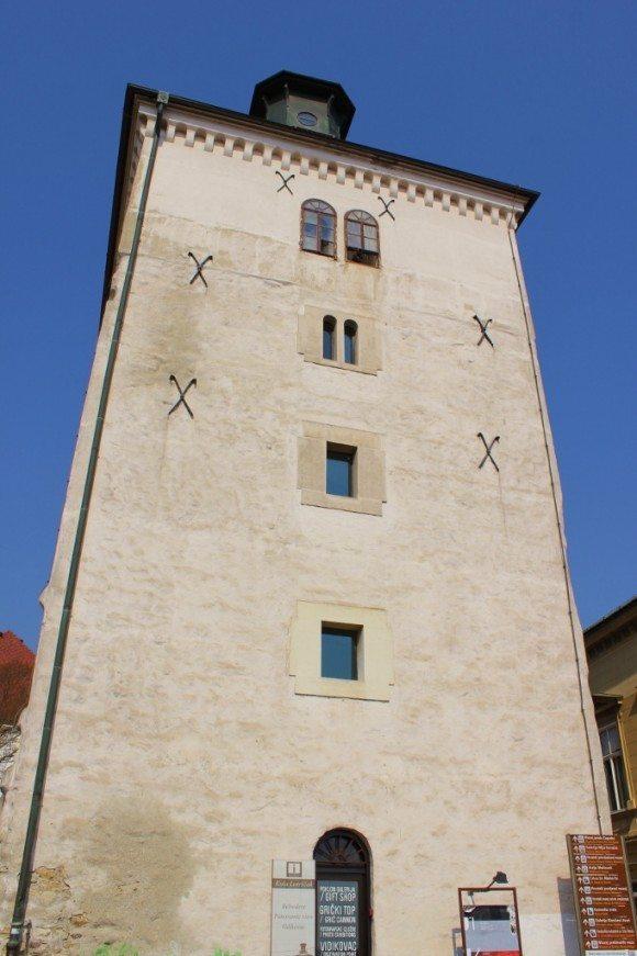 Kula Lotrscak, a lookout tower, in Gradec - Zagreb Croatia