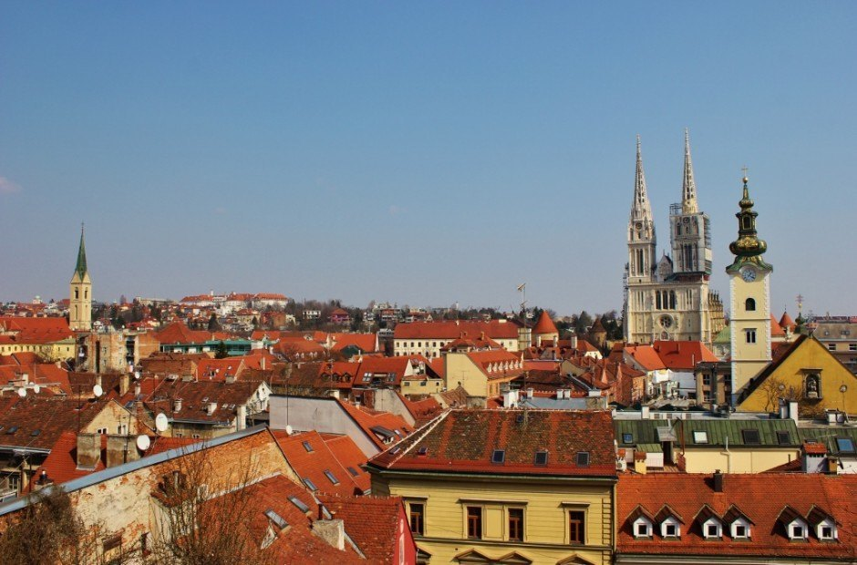Visiting Zagreb, Croatia: A view over Kaptol